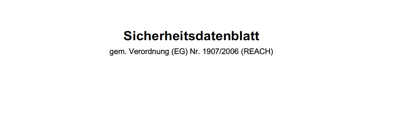 Sicherheitsdatenblatt PDF